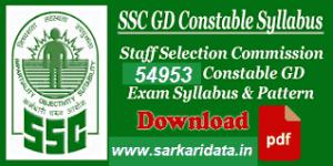 SSC GD Syllabus 2018