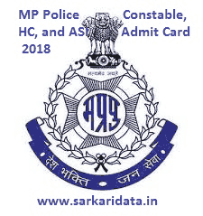 MP Police Constable, HC, and ASI Admit Card 2018