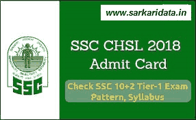 SSC CHSL Admit Card 2018