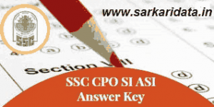SSC CPO Answer Key 2018