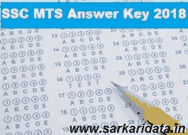 SSC MTS Answer Key 2018