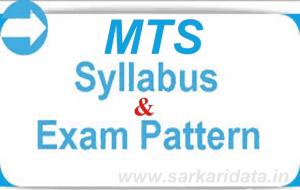SSC MTS Syllabus 2018