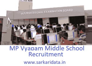 MP Vyapam School Teacher Recruitment 2020
