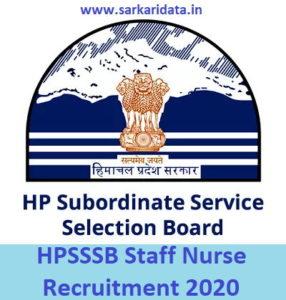 HPSSSB Staff Nurse Recruitment