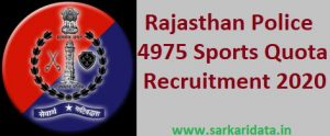 Rajasthan Police Sports Quota Recruitment