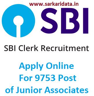 SBI Clerk Recruitment 2020 SBI Junior Associate Notification Online Form