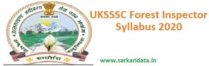 UKSSSC Forest Inspector Syllabus