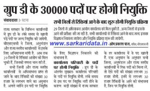 Bihar Group D Recruitment