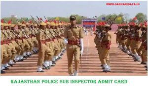 Rajasthan Police SI Admit Card